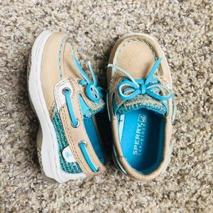 Sperry•Blue Sparkly Baby Shoes size 5.5